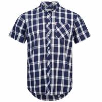BRUTUS JEANS Short-sleeved Shirt 10004 Navy Check