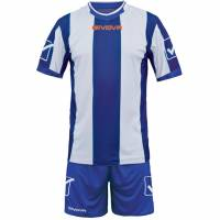 Givova football set jersey with short kit Catalano blue / white