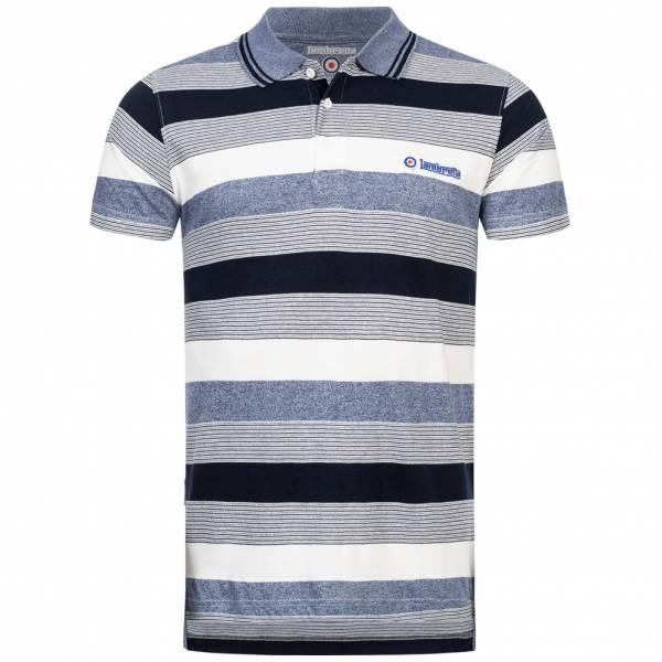 Lambretta Grindle Stripe Herren Polo-Shirt SS5619-NVY/DNM