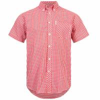 BRUTUS JEANS Short-sleeved Shirt 10002 Red Gingham