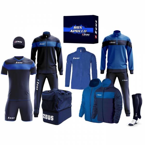 Zeus Apollo Set da calcio Box teamwear da 12 pezzi Navy blu
