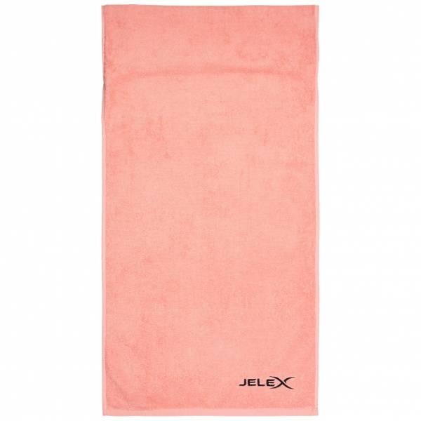 JELEX 100FIT Fitness Handtuch mit Zip-Tasche rosa