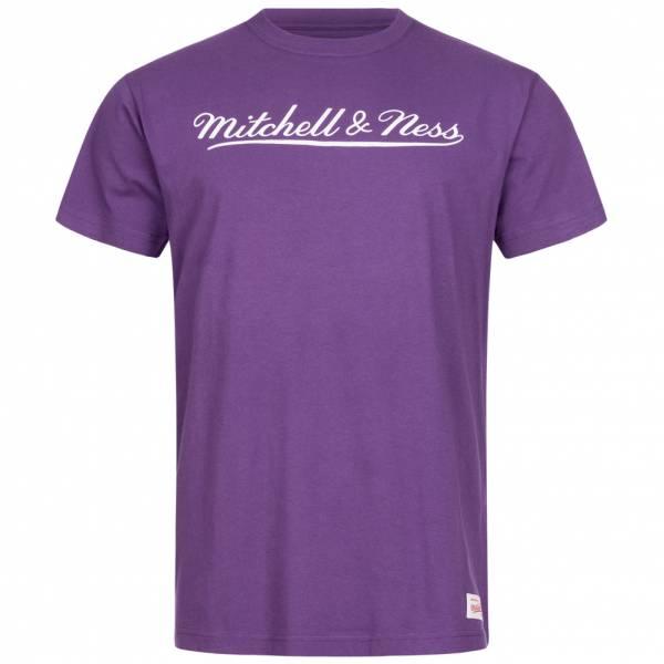 Mitchell & Ness Script Herren T-Shirt MN-BRA-SCRPTLOGOTRAD-PURWHT