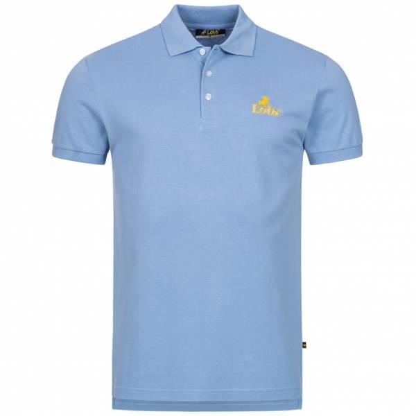 Lois Jeans Herren Polo-Shirt 4E-LPSM-Light Blue
