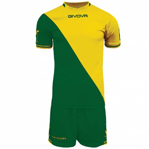 Givova Soccer Set Jersey con Short Kit Craft verde / giallo