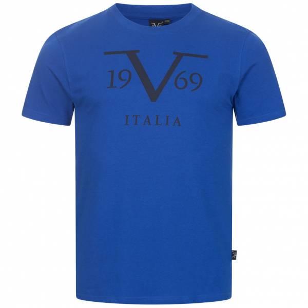19V69 Versace 1969 Big Logo Stampato Herren T-Shirt VI20SS0011B royal