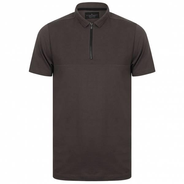 DNM Dissident Ligett Herren Polo-Shirt 1X10442 Asphalt Grey