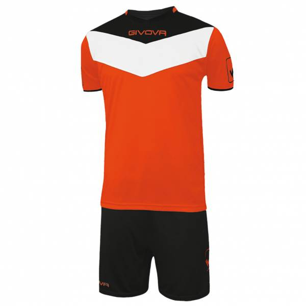 Givova Kit Campo Ensemble maillot Jersey + Short néon orange / noir
