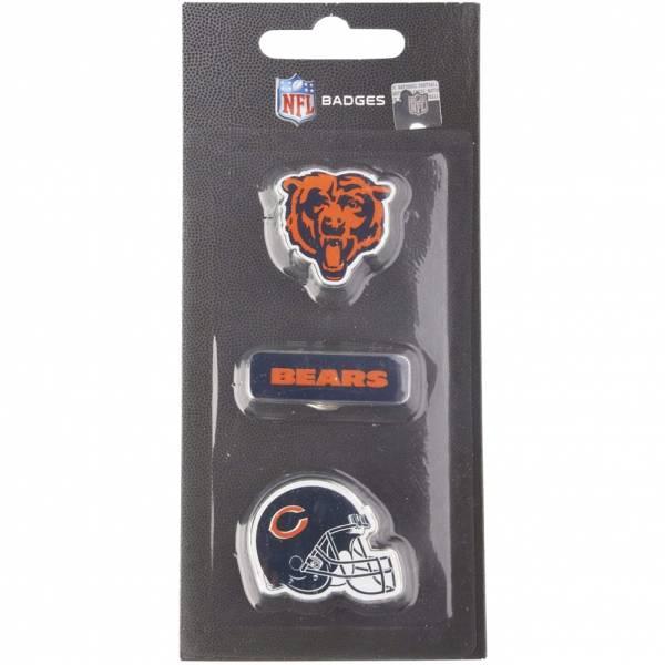 Bears de Chicago NFL Pins métalliques Ensemble de 3 BDNFL3PKCB