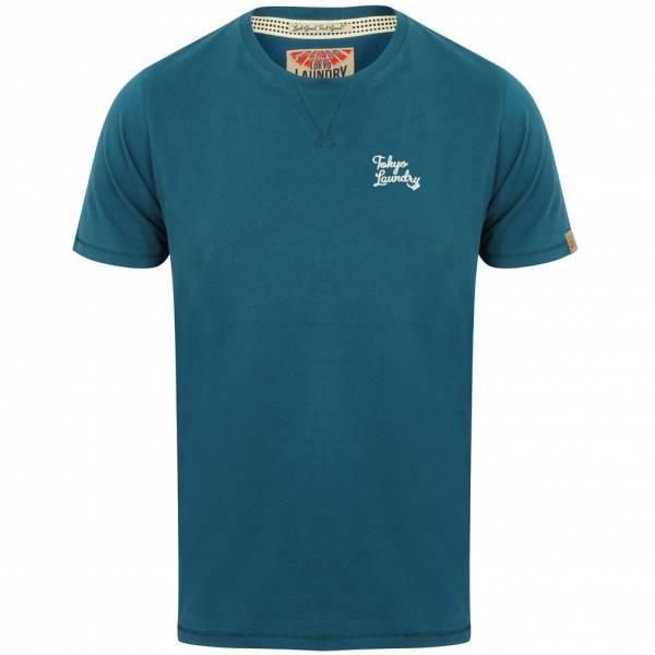 Tokyo Laundry Hemsby V Insert Crew Neck Herren T-Shirt 1C10017 Teal