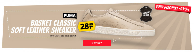 the best attitude 7930a 06bb5 PUMA Basket Leather Sneaker only 28,99 € cheap online shopping at  SportSpar.com