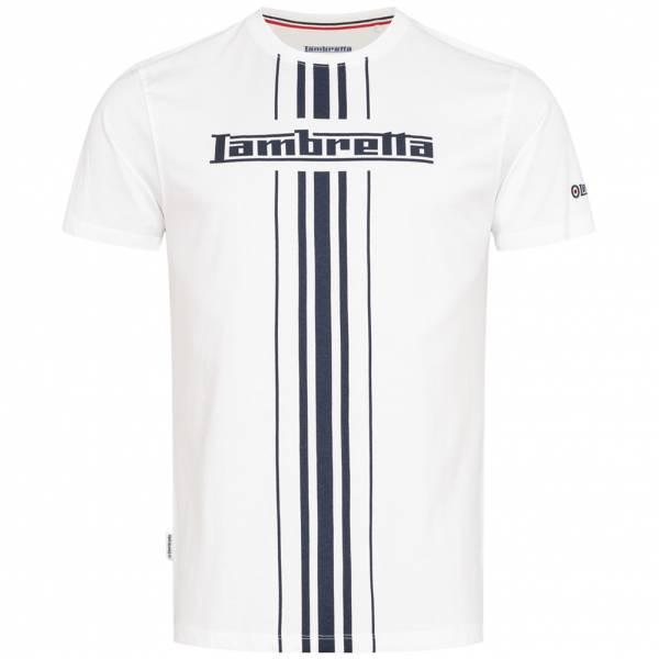 Lambretta Stripe Print Herren T-Shirt SS5266-WHITE