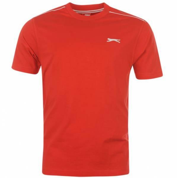 Slazenger Herren Rundhals T-Shirt rot