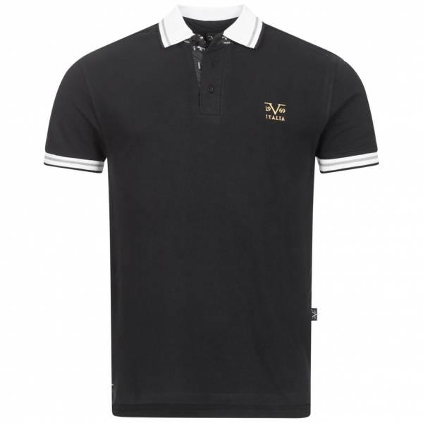 19V69 Versace 1969 Ricamo Retro Herren Polo-Shirt VI20SS0006B schwarz