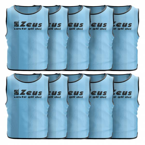 Zeus 10er-Pack Trainingsleibchen Sky