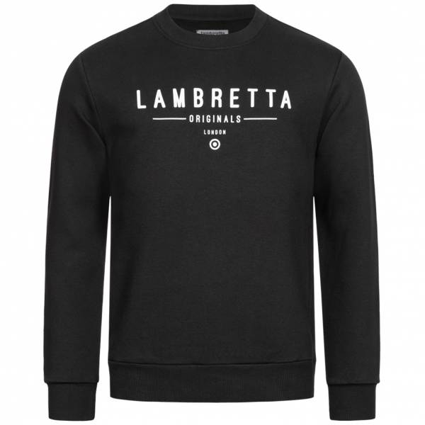 Lambretta Crew Neck Sweat Herren Sweatshirt SS9882 Black