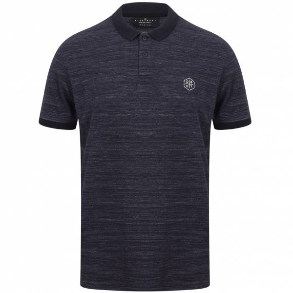 DNM Dissident Matsuki Men Polo Shirt 1X12442 Iris Navy