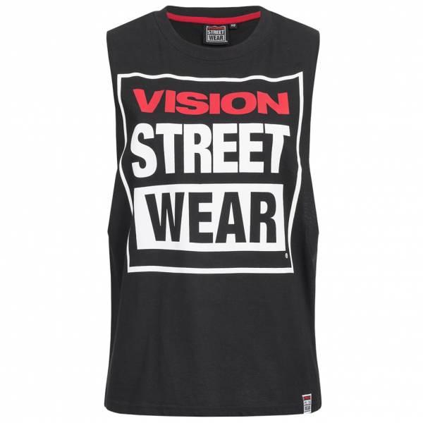 Vision Street Wear Damen Fitness Crew Neck Tank Top Shirt CL3101 black