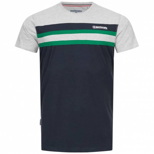 Lambretta Stripe Stretch Herren T-Shirt SS5293-NV/GR/GRN