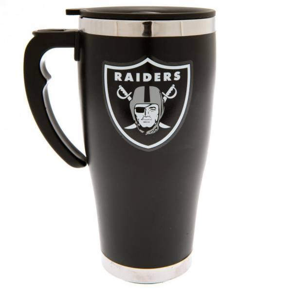 Oakland Raiders NFL Taza de viaje con estampado de aluminio Taza térmica MGNFLTRAVOR