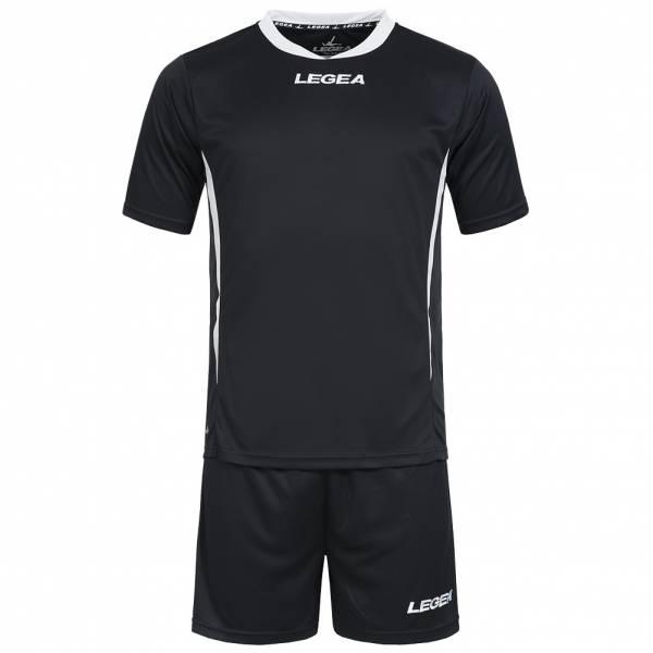 Legea Fußball Set Trikot mit Short schwarz