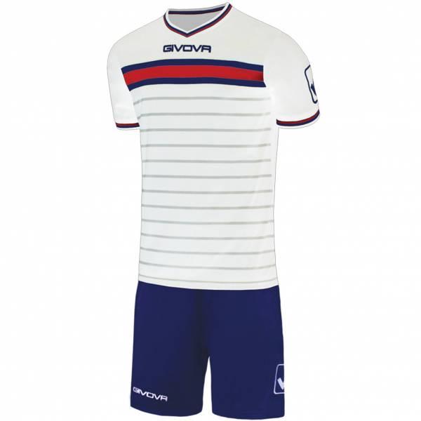 Givova Skill Voetbaltenue Shirt met Shorts wit / marineblauw