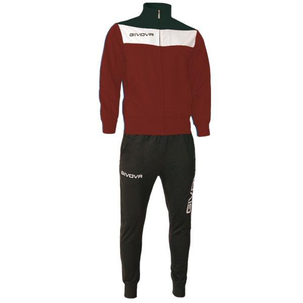 Givova Tuta Campo Trainingsanzug dunkelrot/schwarz
