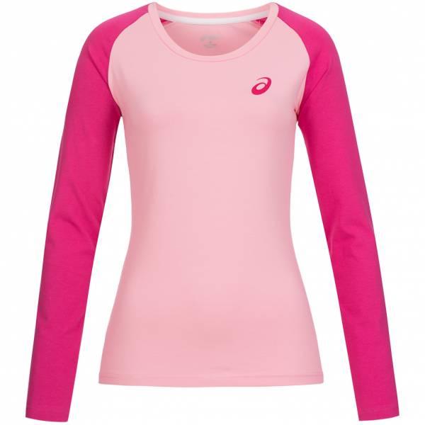 ASICS Damen Running Langarm Shirt Longsleeve 130811-0296 Rosa