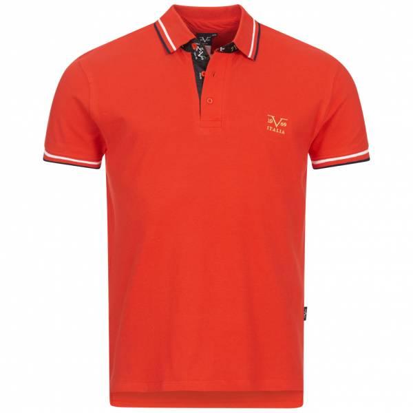 19V69 Versace 1969 Ricamo Retro Herren Freizeit Polo-Shirt VI20SS0006A rot