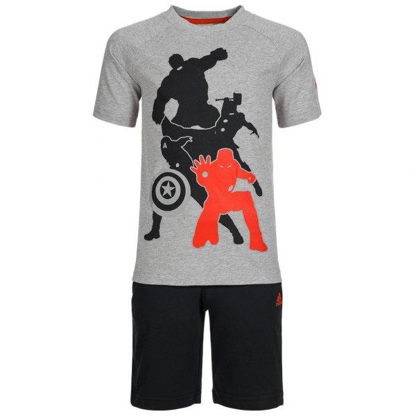 adidas Marvel Avengers Sommer Kleinkinder Set Shirt + Shorts 2 teilig AK2530