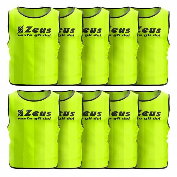 Zeus Pack de 10 Peto de entrenamiento amarillo neón
