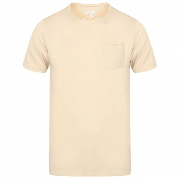 T-Shirt da uomo Tokyo Laundry Zac Crew Neck Pocket 1C10666B Oyster