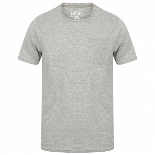 Tokyo Laundry Zac Crew Neck Pocket Heren T-shirt 1C10666 Lichtgrijs