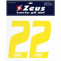 Zeus Nummern-Set 1-22 zum Aufbügeln 25cm Senior gelb