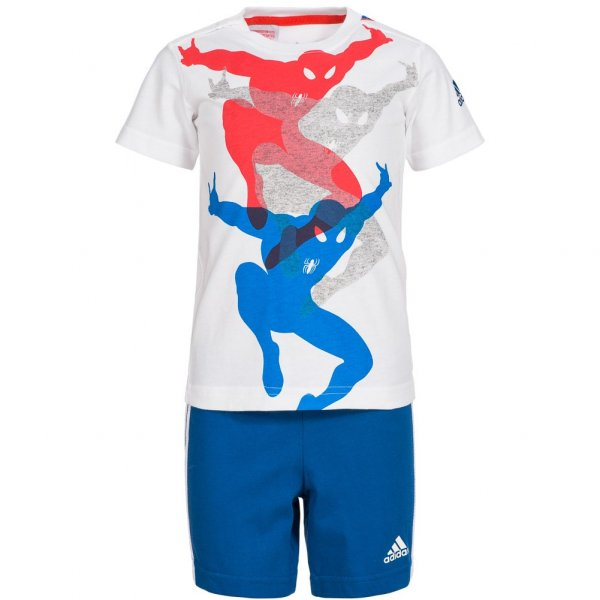 adidas Spiderman Baby Freizeit Set Shirt + Shorts 2 teilig AK2541