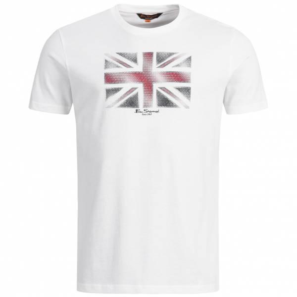 BEN SHERMAN Union Jack Tee Uomo T-shirt 0058442-010 Bianco