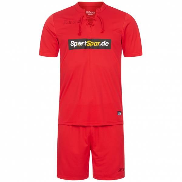 Zeus x Sportspar.de Legend Fußball Set Trikot mit Shorts rot