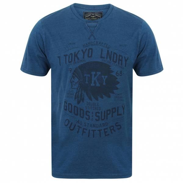 Tokyo Laundry Indigo Sioux Herren T-Shirt 1C9341 Light Indigo