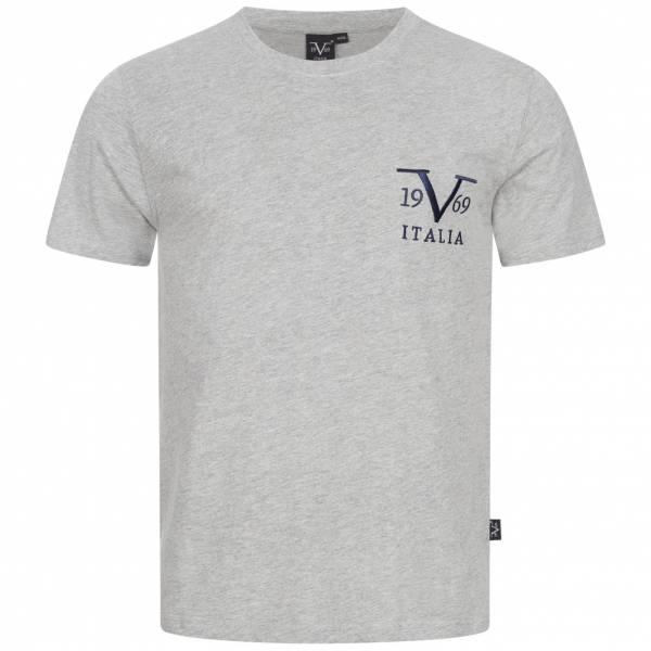 19V69 Versace 1969 Basic Big Logo Herren T-Shirt VI20SS0008A grau