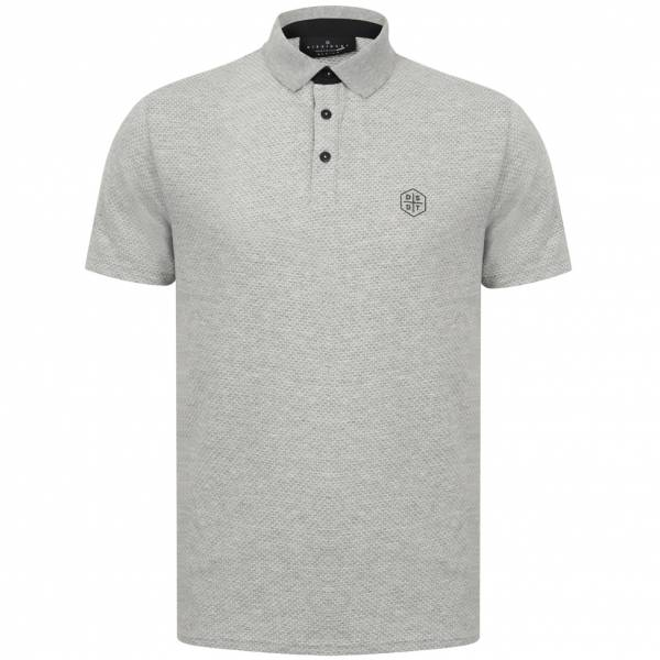 DNM Dissident Klaxon Men Polo Shirt 1X12429 Lt Gray Marl