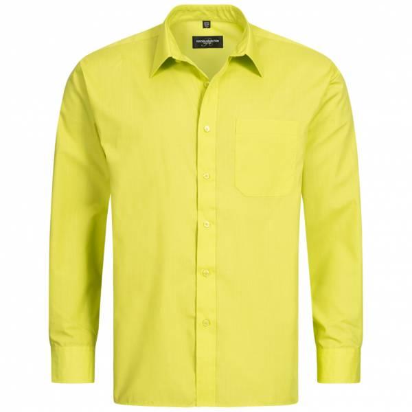 RUSSELL Longsleeve Poly Cotton Poplin Herren Shirt 0R934M0-Lime