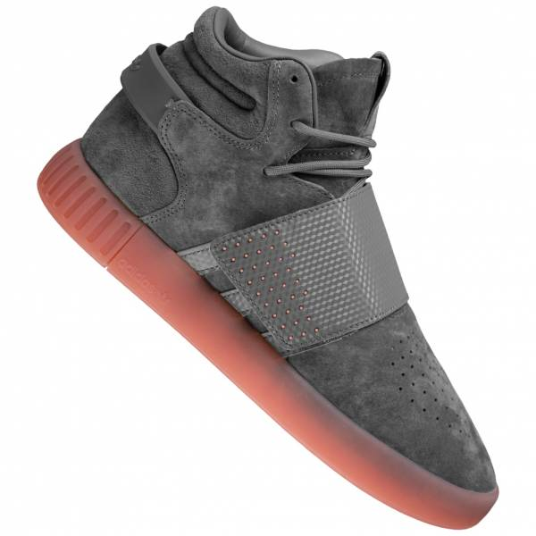98ada1ac3dc341 adidas Originals Tubular Invader Strap leather sneaker BY3634 ...