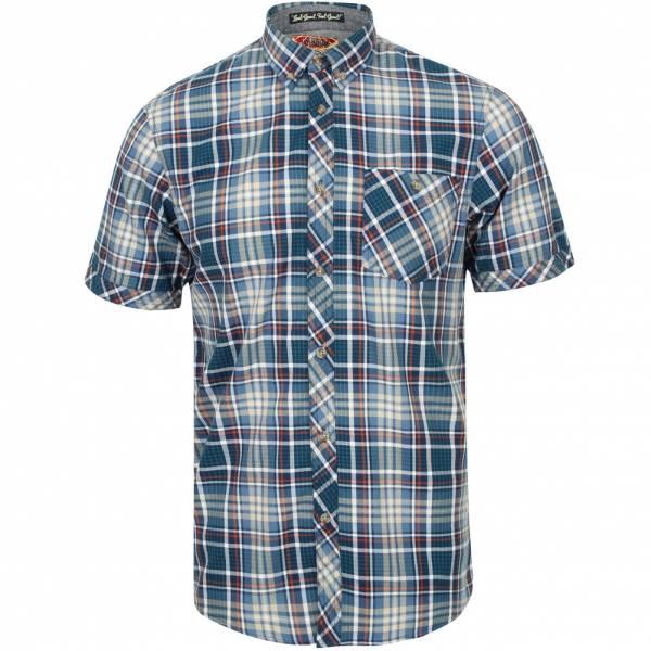Tokyo Laundry Stafford Men Checked Shirt 1H10586 Rivera Blue
