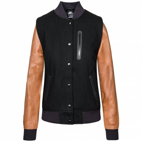 Nike NSW Destroyer Jacket Damen Leder Jacke 426818-013
