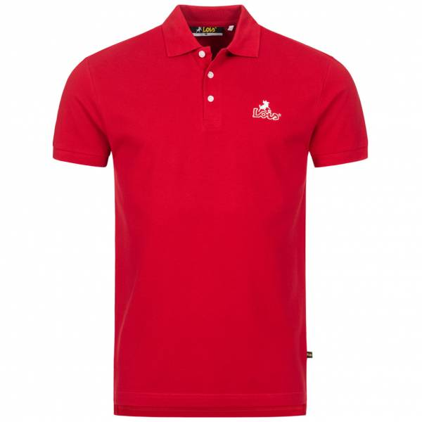 Lois Jeans Herren Polo-Shirt 4E-LPSM-Red