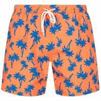 HENLEYS Maro Palm Herren Badeshorts HTG00838 Shocking Orange