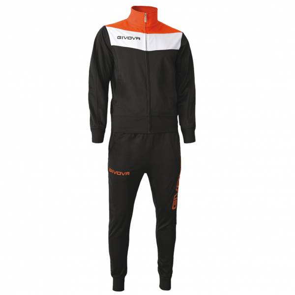 Givova Tuta Campo Tracksuit black / neon orange