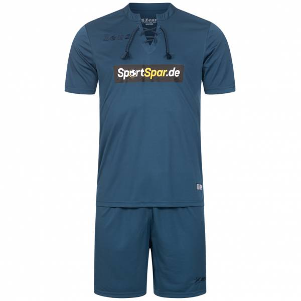 Zeus x Sportspar.de Legend Fußball Set Trikot mit Shorts navy