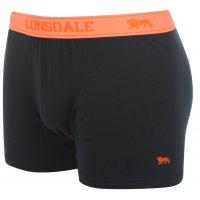 Lonsdale Boxershorts 2 St. navy fluo orange ohne Eingriff