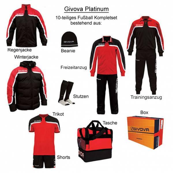 Givova Box Platinum Fußball Set 10-tlg. rot/schwarz